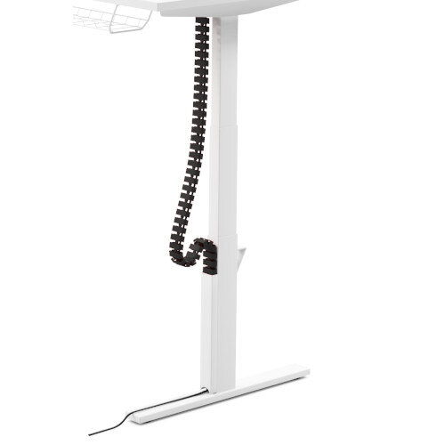 Flexible Cable Management Spine - Pack of 2 - For Leap Height Adjustable Bench Desks Black