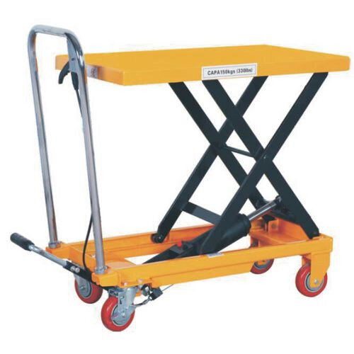 Premier Mobile Lift Table 770mm Platform Height 150kg Lifting Capacity 410157