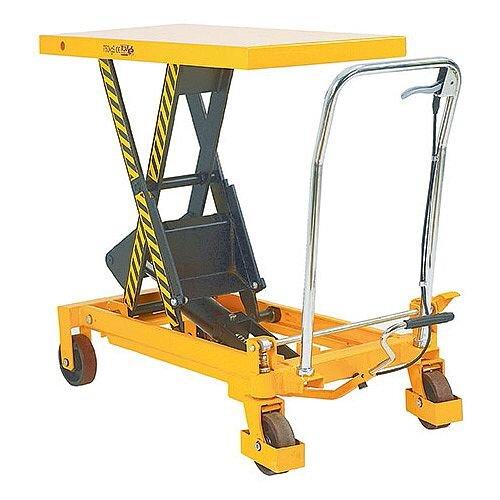 Lifting Table Platform Trolley 300Kg Capacity Yellow/Black 329456