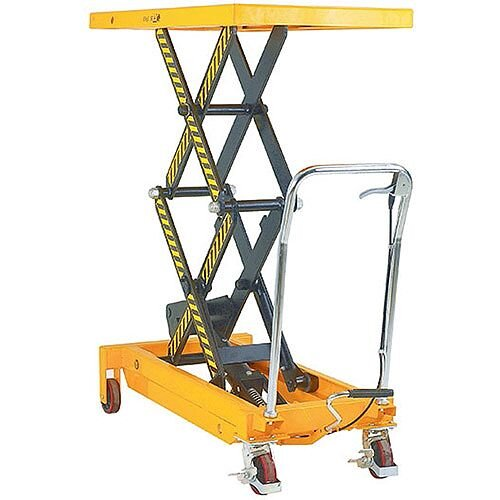 Lifting Table Platform Trolley 800Kg Capacity Yellow/Black 329464