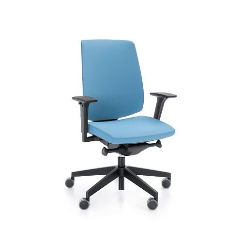 Lightup Modern Design Ergonomic Office Chair With Adjule Arms Light Blue