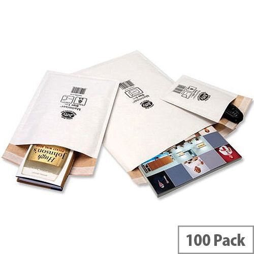 Jiffy Mailer Size 5 Superlite Foam Lined 260x345mm White Pack of 100