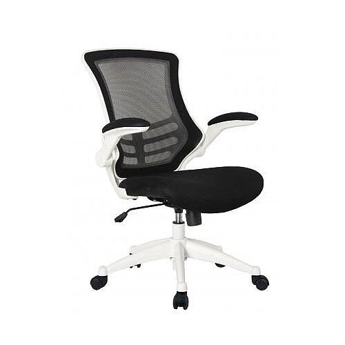 Executive High Back Mesh OP Office Chair White Frame - Stylish Design & Great Comfort - 2 Year Warranty