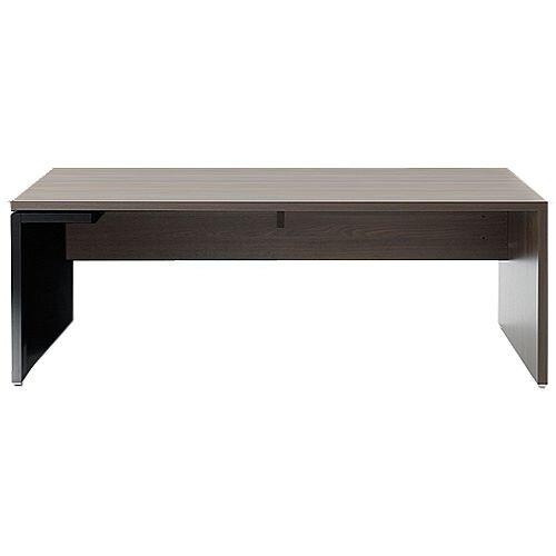 Mito Executive Desk 2000mm Dark Sycamore &Black
