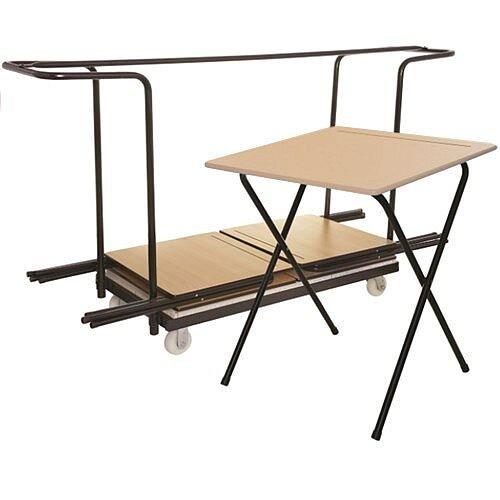 40 Exam Desk &Trolley Bundle - Exam Desk Trolley For 40 Desks Supplied Complete with Desks Ref MFED60B40