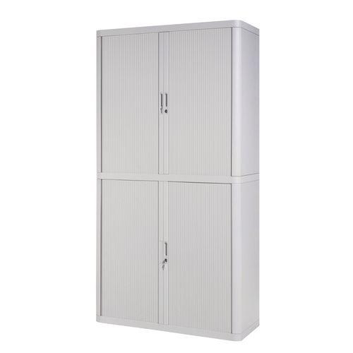 Paperflow Easy Office Cupboard 2 Metres Grey/Grey with 4 Shelves EE000007