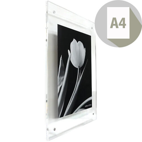 PAC Acrylic Wall Frame A4 Clear ADPA4