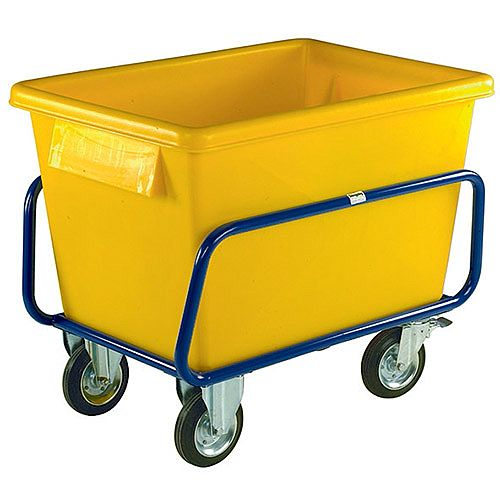 Plastic Container Truck 1040x700x860mm Yellow 326056