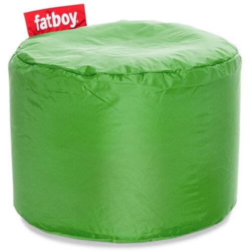The Point Bean Bag Pouf Stool 35x50cm Grass Green Suitable for Indoor Use - Fatboy The Original Bean Bag Range