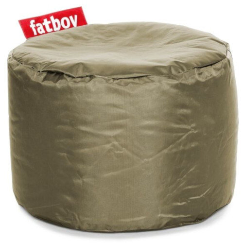 The Point Bean Bag Pouf Stool 35x50cm Olive Suitable for Indoor Use - Fatboy The Original Bean Bag Range