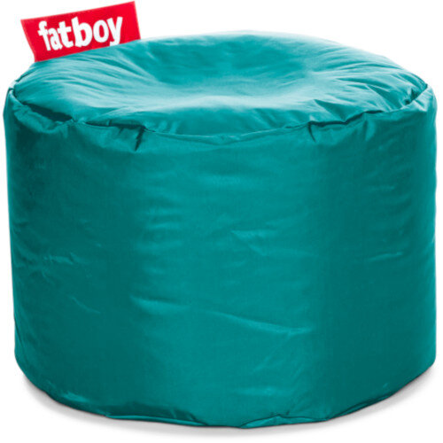 The Point Bean Bag Pouf Stool 35x50cm Turquoise Suitable for Indoor Use - Fatboy The Original Bean Bag Range