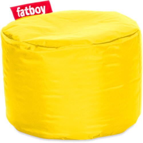 The Point Bean Bag Pouf Stool 35x50cm Yellow Suitable for Indoor Use - Fatboy The Original Bean Bag Range