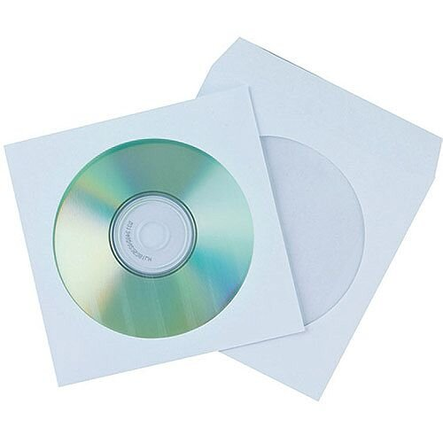 Q-Connect CD Paper Envelope Pack of 50 KF02206