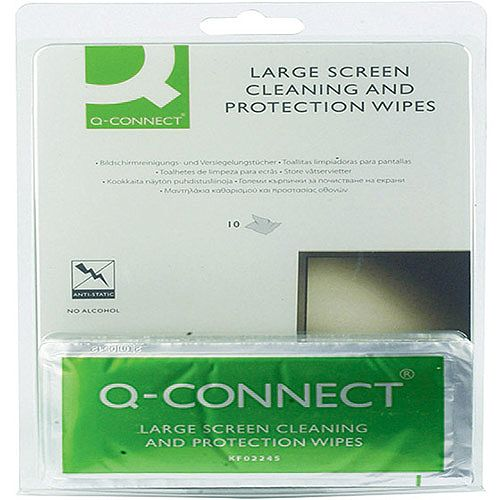 Q-Connect Large Screen/Protection Wipes Pack of 10 KF02245A