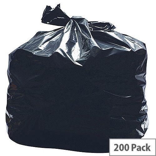 2Work Black Light Duty Refuse Sacks 90 Litres Pack of 200 KF73375