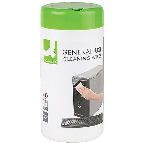 Q-Connect General Use Wipes Pack 100 KF04508