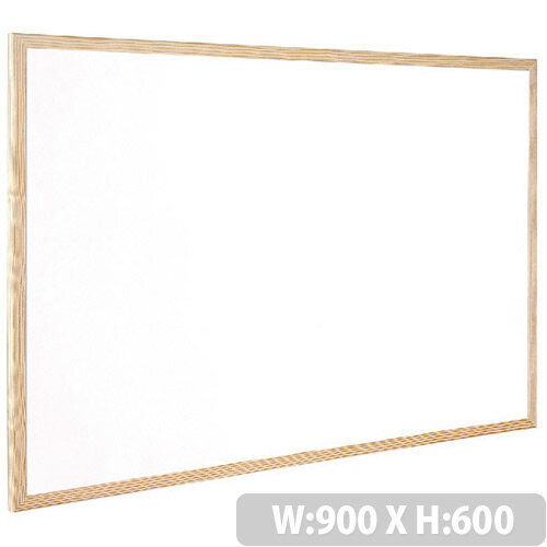 Q-Connect Whiteboard Wooden Frame 900x600mm – White Surface, Wall-Mountable, Home Or Office, Easily Cleaned, No Scratch Or Blemish, Durable & Non-Magnetic (KF03571)