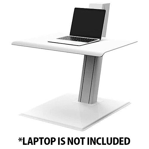 Humanscale QuickStand ECO Height-Adjustable Sitting/Standing Laptop Workstation White QSEWL