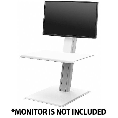 Humanscale QuickStand ECO Height-Adjustable Sitting/Standing Single Monitor Workstation White QSEWS