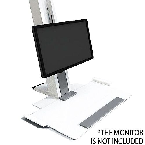 Humanscale QuickStand Height-Adjustable Sitting/Standing Workstation Large Platform White QSWL30