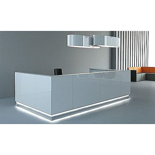 Linea Minimalist Design Reception Unit Gloss White RD46
