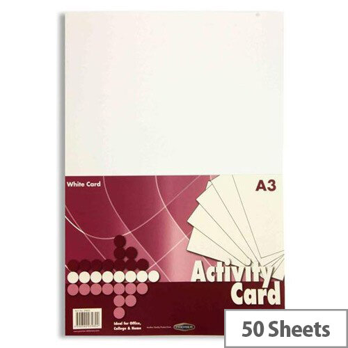 Premier A3 160g White Activity Card (Pack of 50 Sheets)