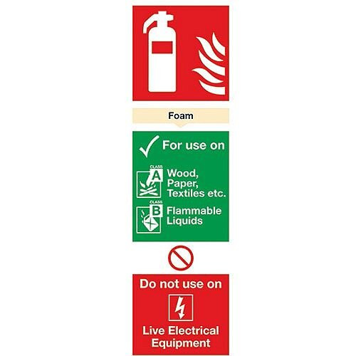 Safety Sign Fire Extinguisher Foam 280x90mm PVC