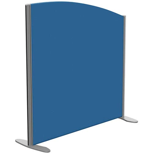 Sprint Eco Freestanding Privacy Acoustic Screen Curved Top W1000xH1000-800mm Blue - With Stabilising Feet