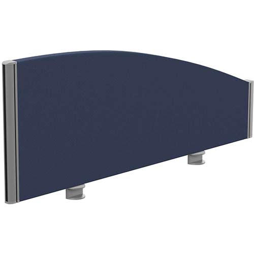Sprint Eco Office Desk Screen Curved Top W1000xH380-180mm Dark Blue