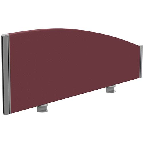 Sprint Eco Office Desk Screen Curved Top W1000xH380-180mm Burgundy