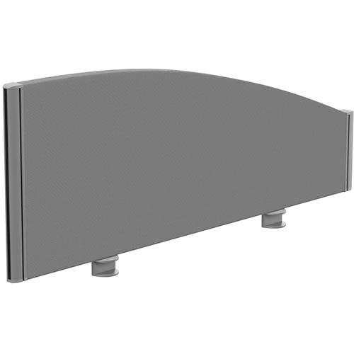 Sprint Eco Office Desk Screen Curved Top W1000xH380-180mm Grey