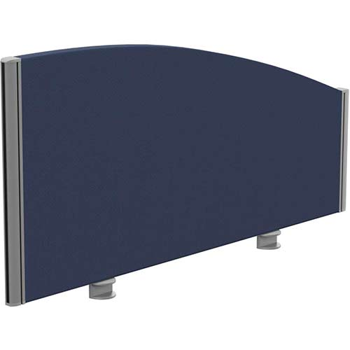 Sprint Eco Office Desk Screen Curved Top W1000xH480-280mm Dark Blue