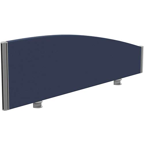 Sprint Eco Office Desk Screen Curved Top W1200xH380-180mm Dark Blue