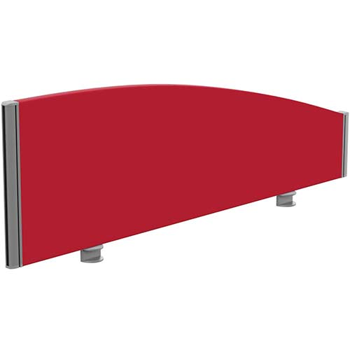 Sprint Eco Office Desk Screen Curved Top W1200xH380-180mm Red