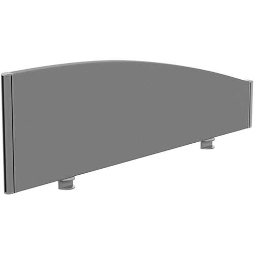 Sprint Eco Office Desk Screen Curved Top W1200xH380-180mm Grey
