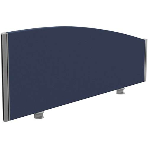 Sprint Eco Office Desk Screen Curved Top W1200xH480-280mm Dark Blue