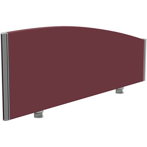Sprint Eco Office Desk Screen Curved Top W1200xH480-280mm Burgundy