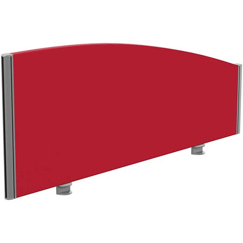 Sprint Eco Office Desk Screen Curved Top W1200xH480-280mm Red