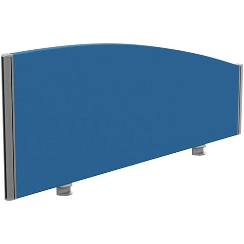 Sprint Eco Office Desk Screen Curved Top W1200xH480-280mm Blue