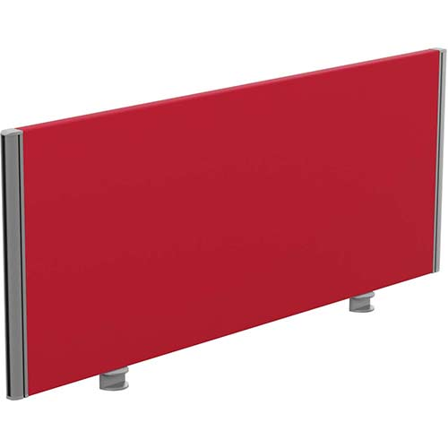 Sprint Eco Office Desk Screen Straight Top W1200xH480mm Red