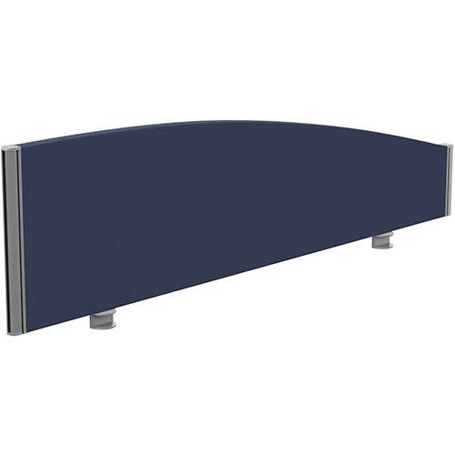 Sprint Eco Office Desk Screen Curved Top W1400xH380-180mm Dark Blue