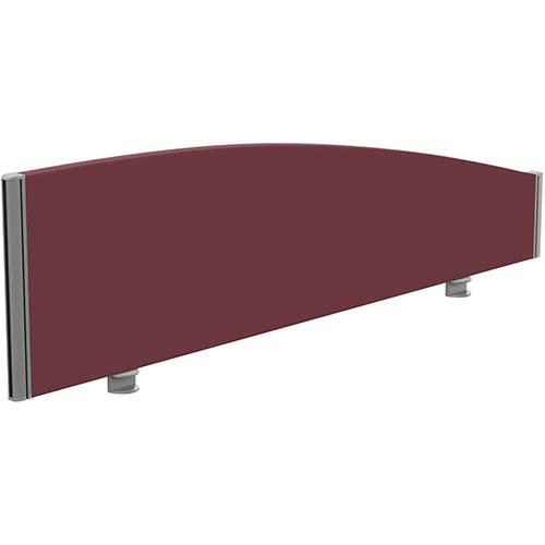 Sprint Eco Office Desk Screen Curved Top W1400xH380-180mm Burgundy