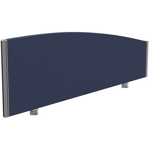 Sprint Eco Office Desk Screen Curved Top W1400xH480-280mm Dark Blue