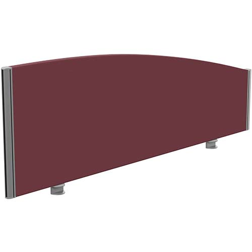 Sprint Eco Office Desk Screen Curved Top W1400xH480-280mm Burgundy