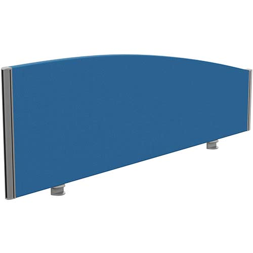 Sprint Eco Office Desk Screen Curved Top W1400xH480-280mm Blue
