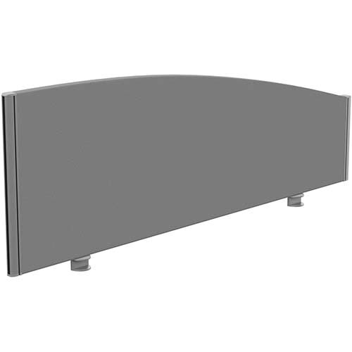 Sprint Eco Office Desk Screen Curved Top W1400xH480-280mm Grey