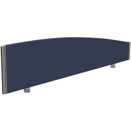 Sprint Eco Office Desk Screen Curved Top W1600xH380-180mm Dark Blue