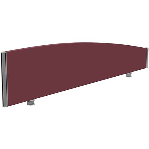 Sprint Eco Office Desk Screen Curved Top W1600xH380-180mm Burgundy