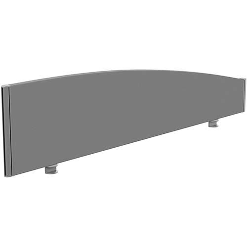 Sprint Eco Office Desk Screen Curved Top W1600xH380-180mm Grey