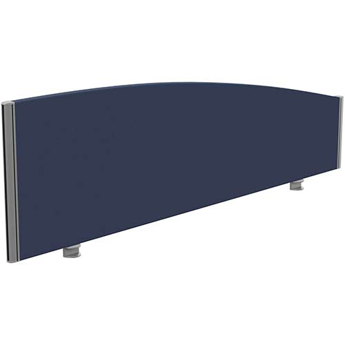 Sprint Eco Office Desk Screen Curved Top W1600xH480-280mm Dark Blue